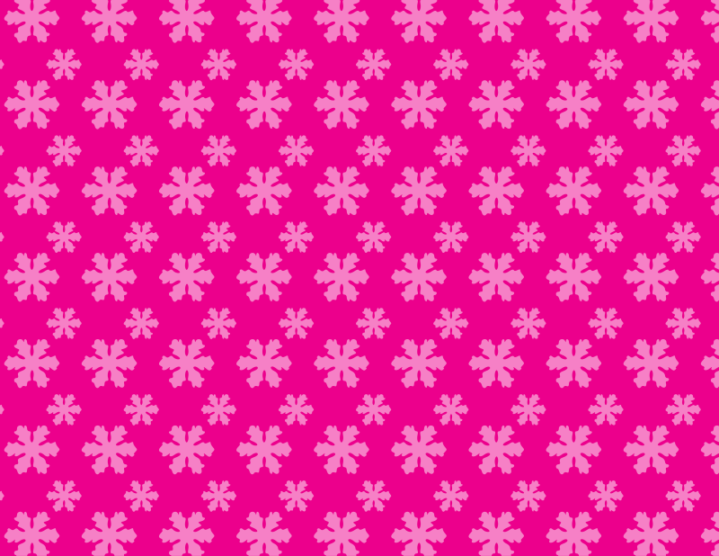Snowflake pattern pink background