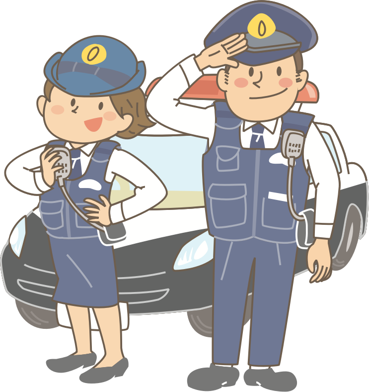 Male and Female Police Officers