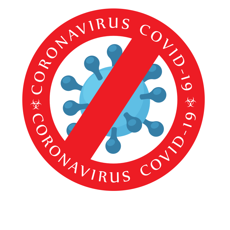 Coronavirus warning sticker