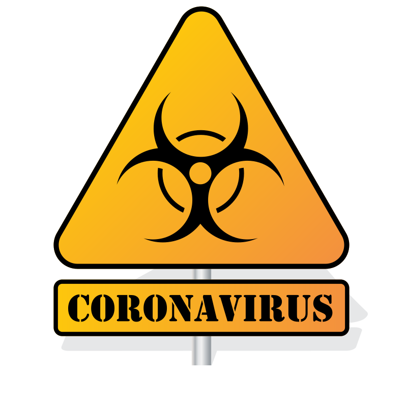 Coronavirus biohazard sign