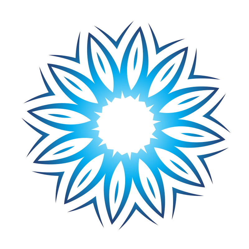 Blue flower logotype design
