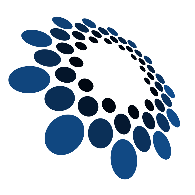 Blue circles logo art