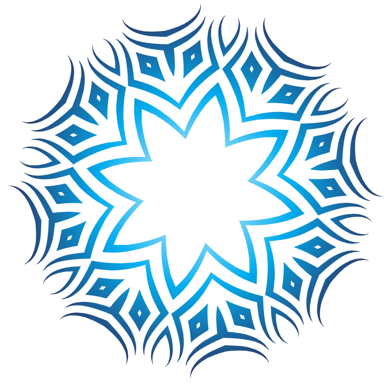 Tribal ornament blue color