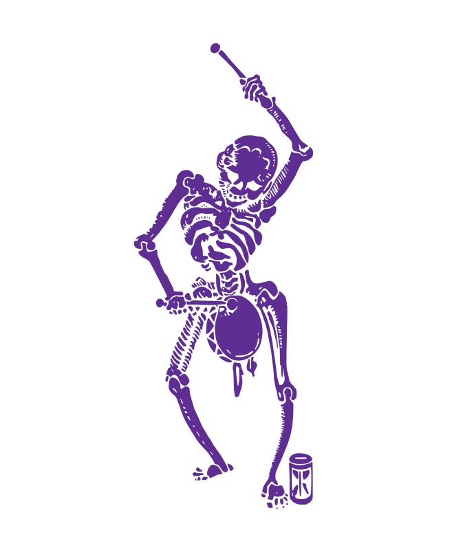 Skeleton with a Drum - Purple