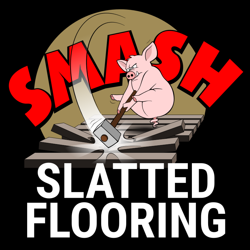 Smash slatted flooring