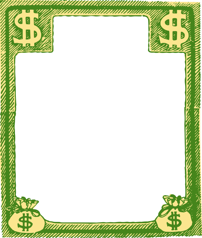 Square Money Bags Frame - Colour