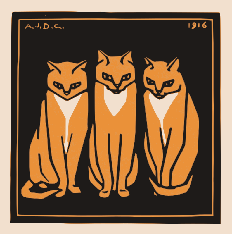 Three cats (1916)