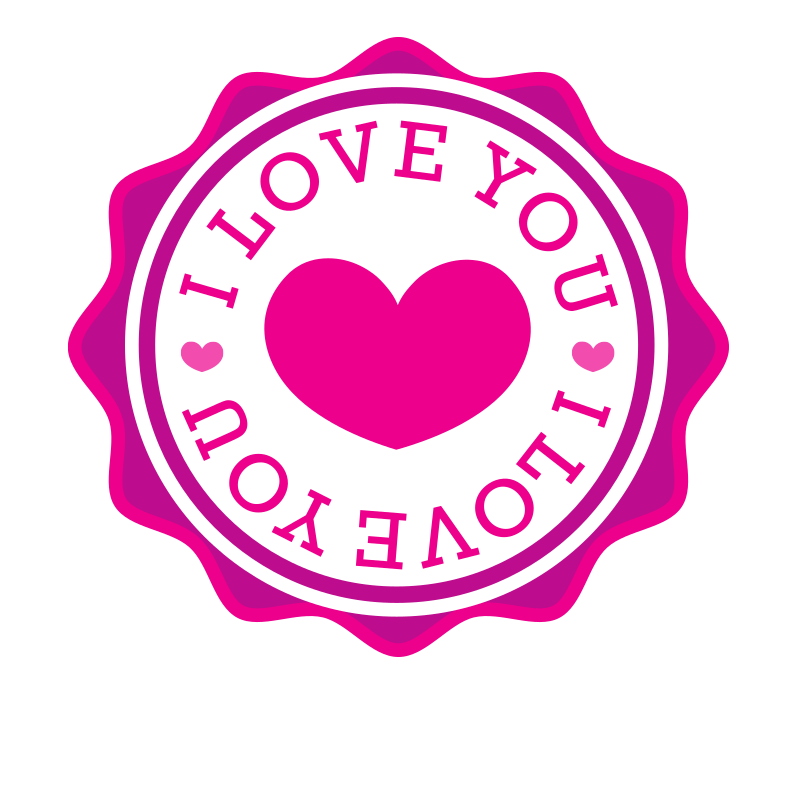 I love you vector sticker