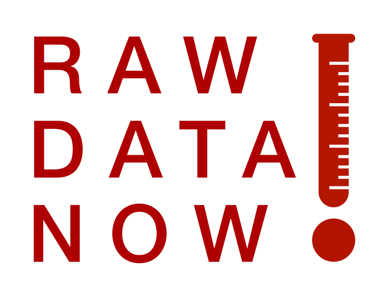 RAW DATA NOW Thermometer Test Tube Logotype