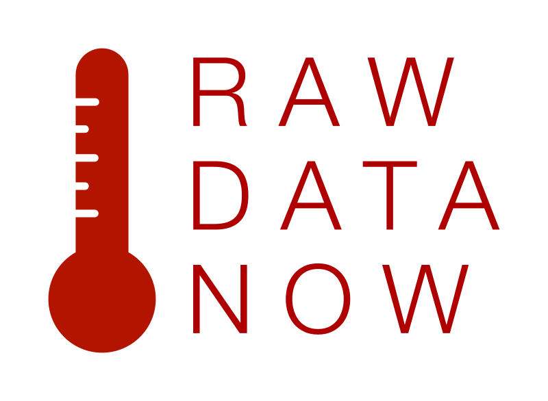 RAW DATA NOW Thermometer Left Side Logotype