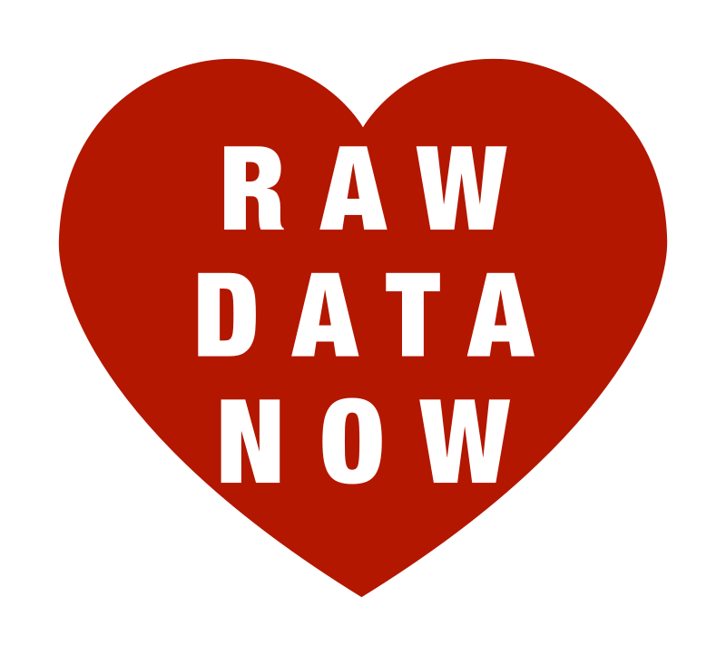 RAW DATA NOW Heart Outline Logotype