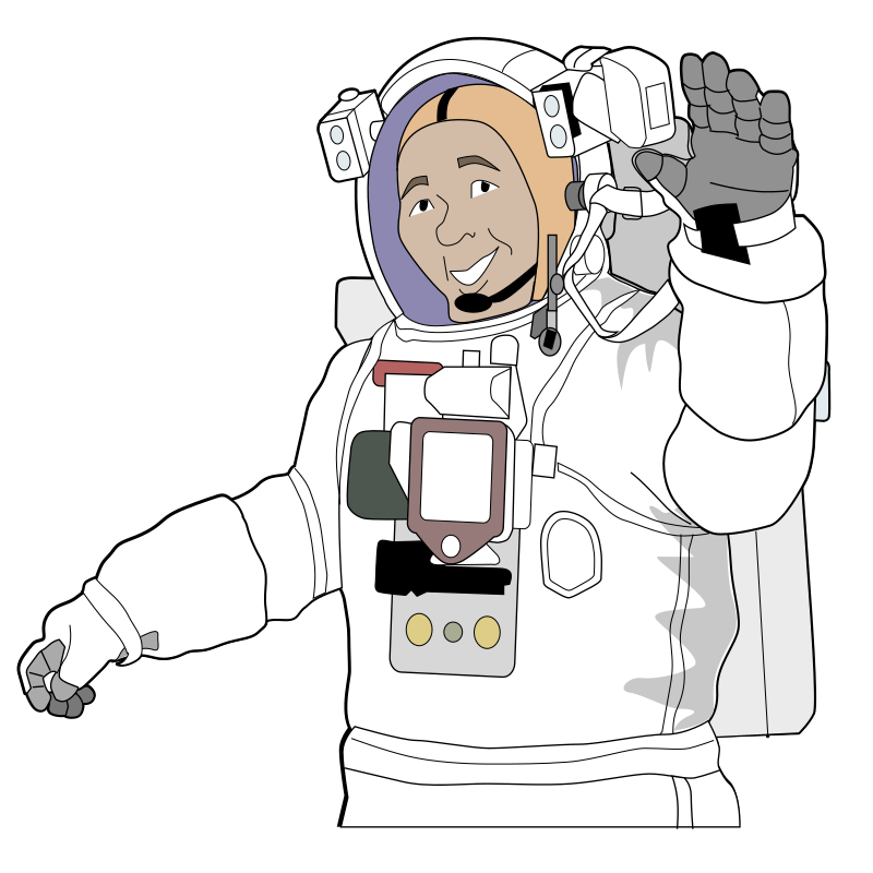Astronaut iss activity sheet colour remix