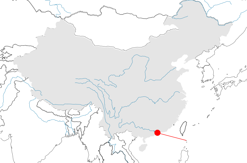 The Pearl River Delta (location on map)