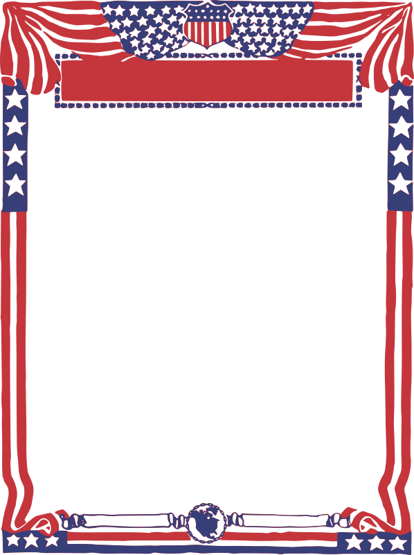 USA Patriotic Frame