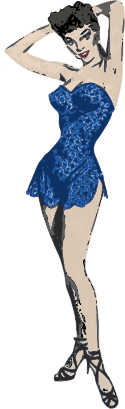 Blue Dress Lady