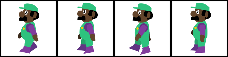 Mario-Like guy walking spritesheet