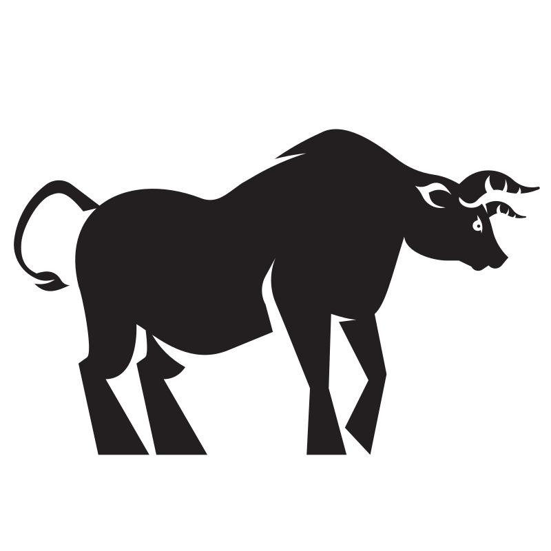 Silhouette of a bull