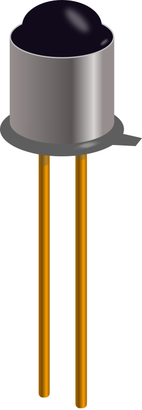 Phototransistor in metal can