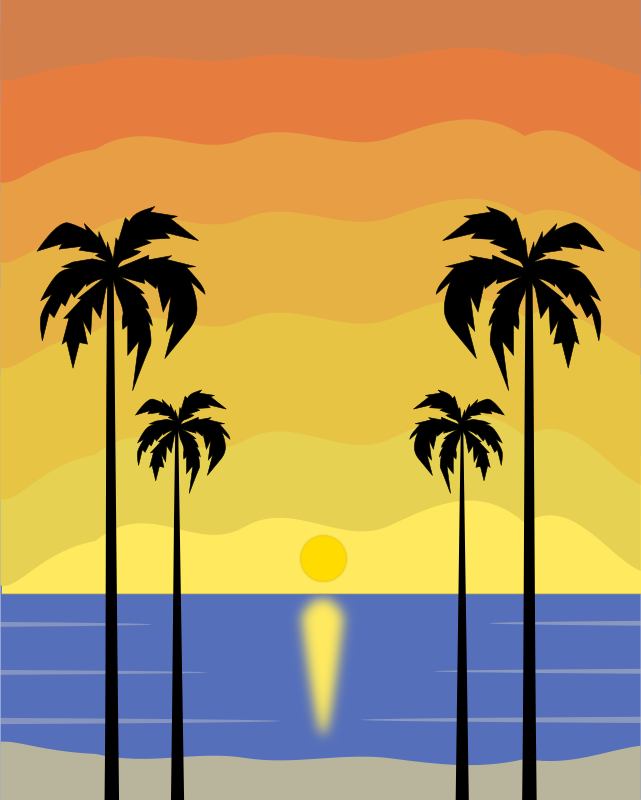 Colour Tropical Sunset