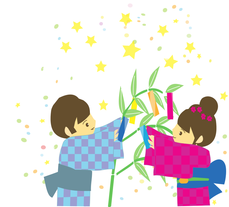 Tanabata Boy and Girl