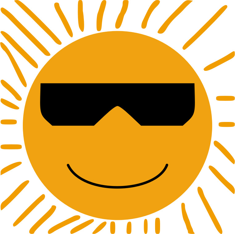 Sun with Glasses 2
