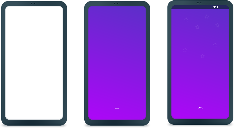 Generic Android smartphone mockup 3 variations - with outline