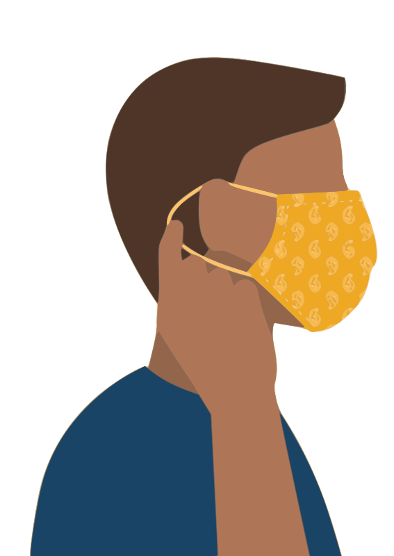 Putting on Face Mask