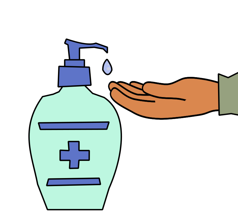 Hand with Hand Sanitizer