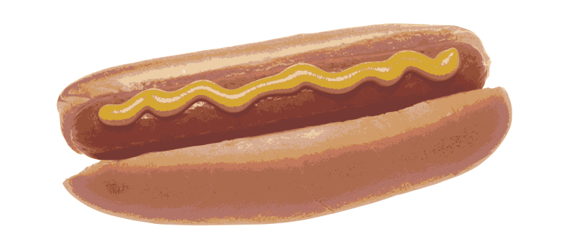 Simple Mustard Hotdog