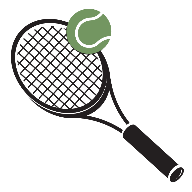 Tennis Racket and Green Ball