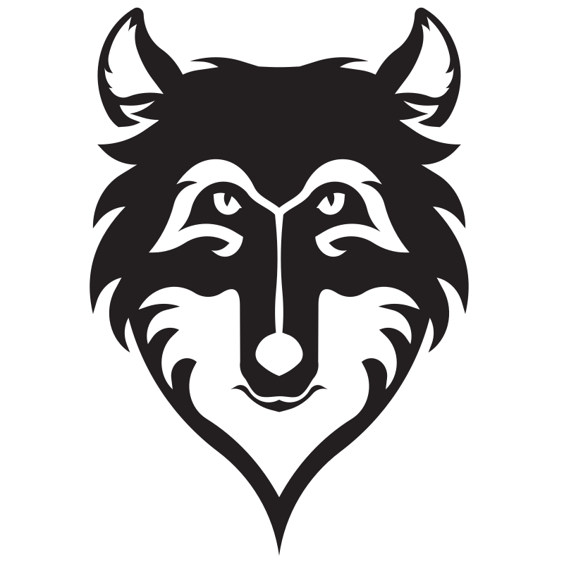 Wolf head silhouette