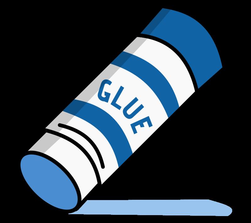 Blue Glue Stick - Openclipart (800 x 710 Pixel)