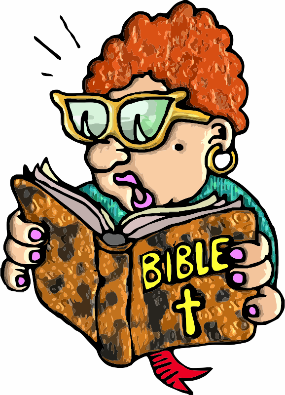 A Lady reading her Bible