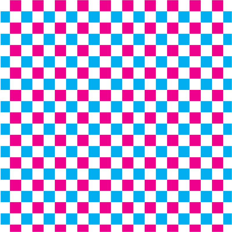 Checkered pattern red and blue
