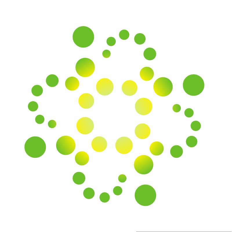Green dots shape