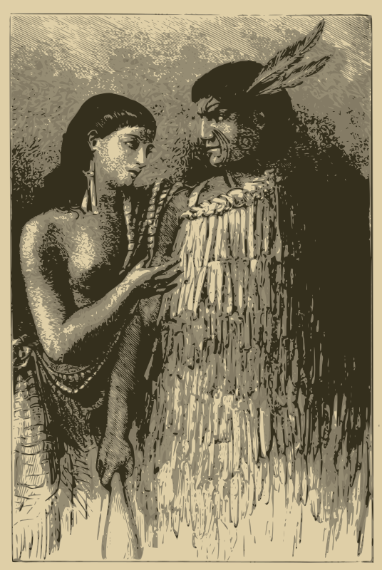 Maori Chief and Wife