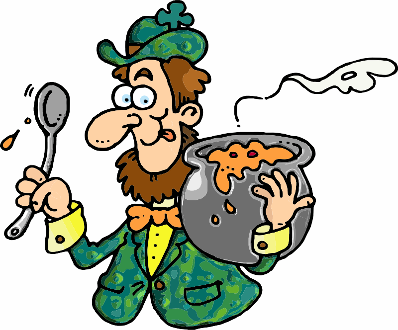 A man with Irish Stew
