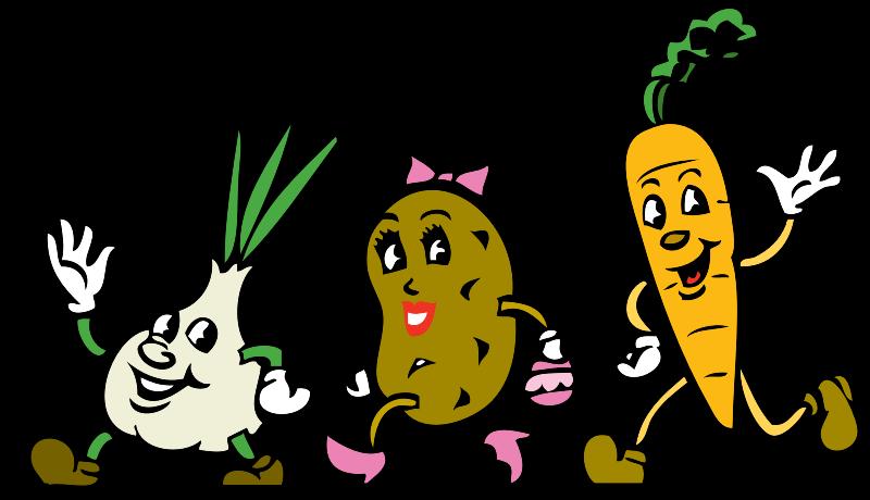 funny veggie cartoon