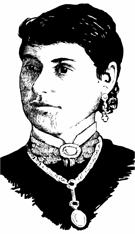 A Maori woman with a tattoo on her face
