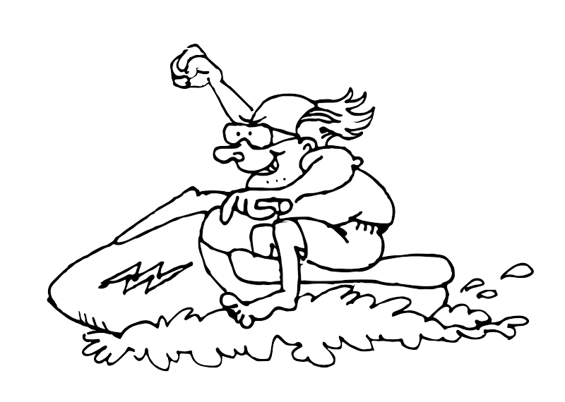 Old man on a Jet ski
