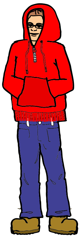 Man in a Red Hoodie
