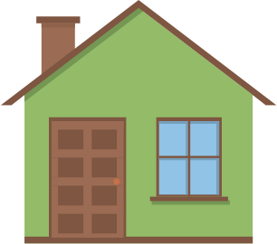Little Green 2D House (Flat Design)