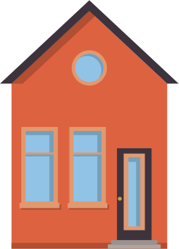 Little Red 2D House (Flat Design)
