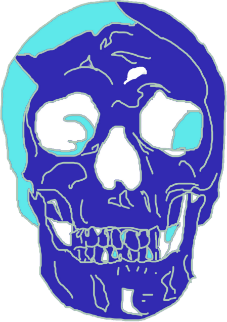 Skeletal Blue