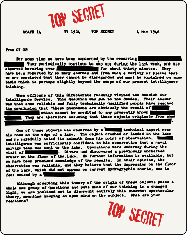 UFO Document - Redacted