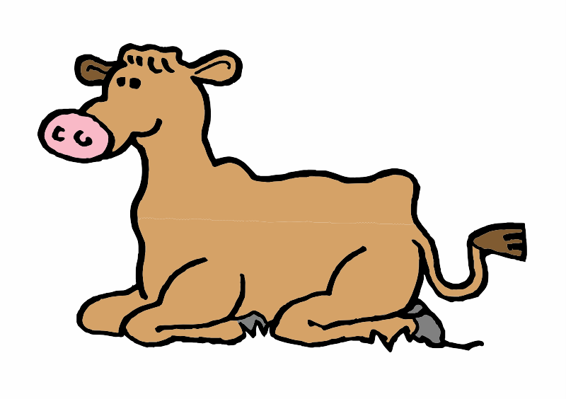 A Brown Cow lying down