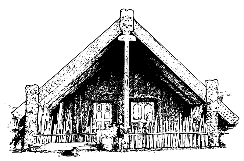 A Maori Meeting House