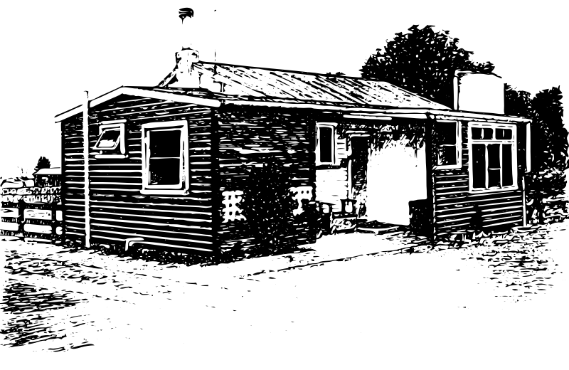 A Wooden house on a Marae in New Zealand