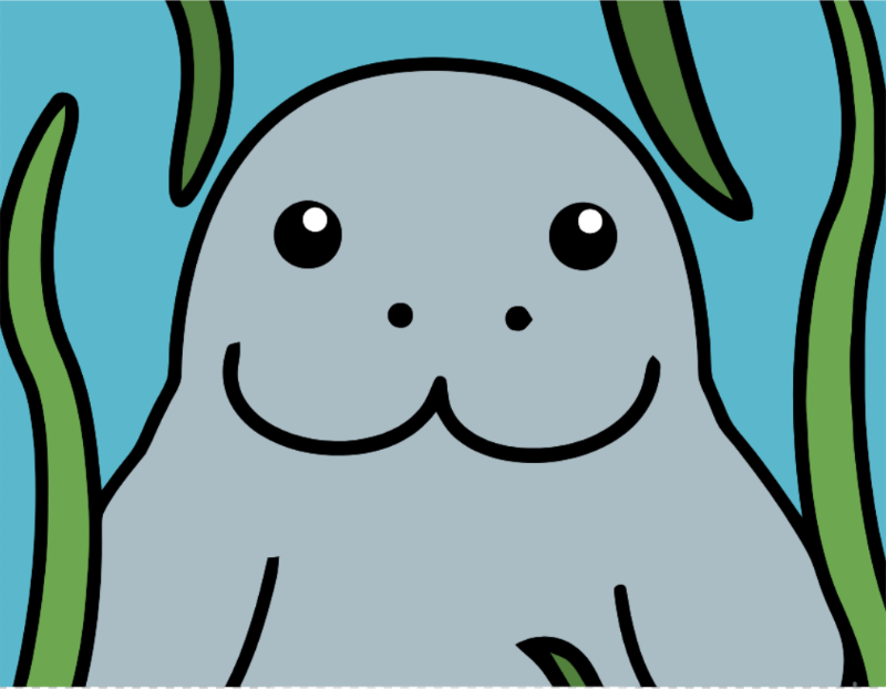 Cartoon Manatee