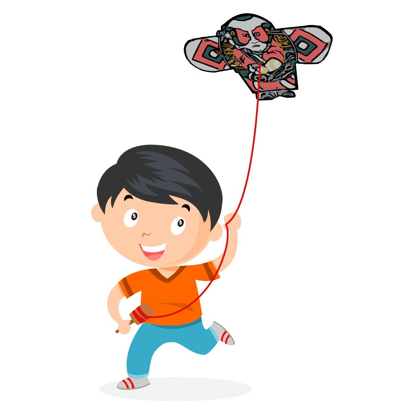 Boy with Japanese Kite